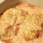 Ryba zapiekana w sosie pomidorowo-śmietanowym