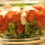Sałatka z pomidorów w sosie muszdardowym
