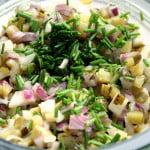 Surówka z cebuli i ogórków konserwowych z musztardą